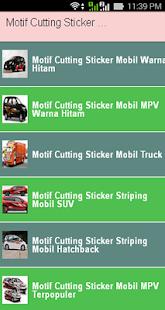 Motif Cutting Sticker Mobil - náhled