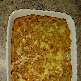 Potato, Vegetables And Ham Cassarole
