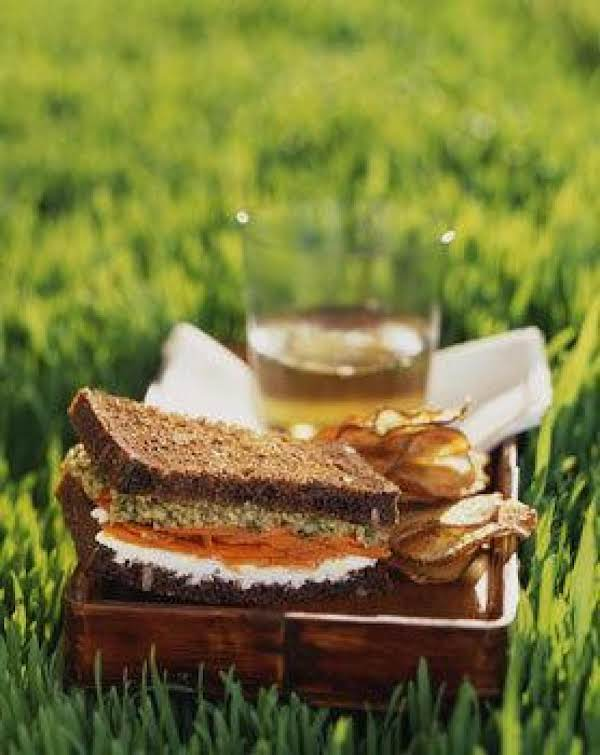 Moroccan Carrot, Goat Cheese Sandwiches With Green Recipe