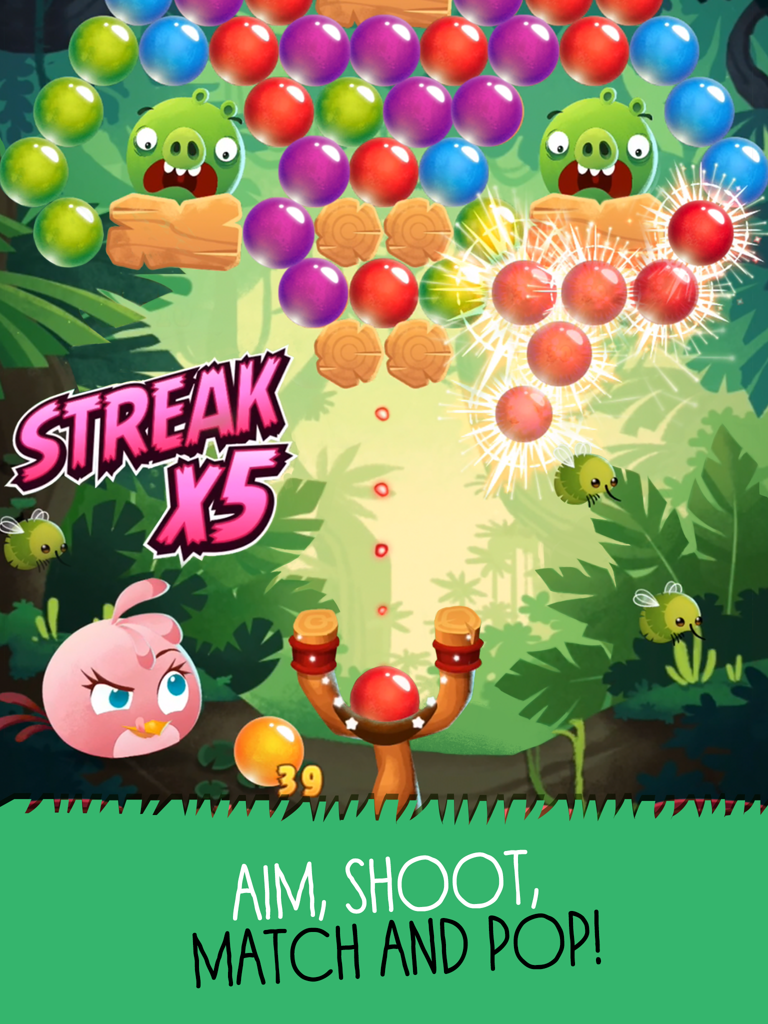 Angry Birds POP Bubble Shooter screenshot #8