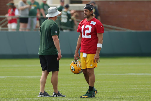 Body language told the story during Aaron Rodgers' press conference