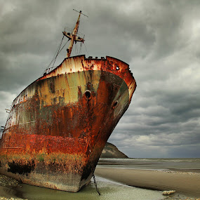 Desdemona by Tadas Jucys - Landscapes Travel ( argentina, sky, patagonia, majestic, wreck, ship, desdemona, ocean, rusty, storm )