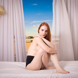 Ana Carol - 2018 APR by Gabriel Fox - Nudes & Boudoir Artistic Nude ( redhead, pose, sexy, model, nude, window, body, naked, flash,  )