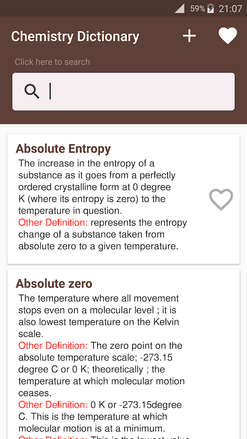 Chemistry Dictionary Offline- screenshot