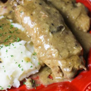 Slow Cooker Smothered Turkey Wings.