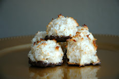 Chocolate Dipped Coconut Macaroon