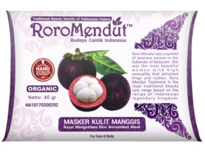 Masker Kulit Manggis RoroMendut 40gr MASKER AWET MUDA ROROMENDUT BPOM Kemasan Baru 40gr mencerahkan kulit lembut