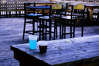 Photo: What's in a blue drink?