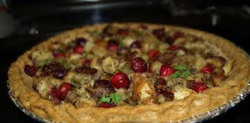 Turkey Leftover Pie with Cranberry-Date Stuffing