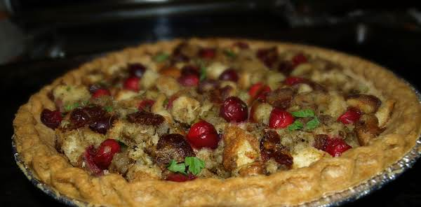 Turkey Leftover Pie With Cranberry-date Stuffing Recipe