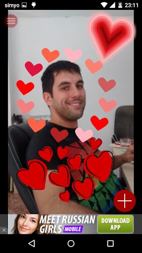 爱与浪漫的照片贴纸