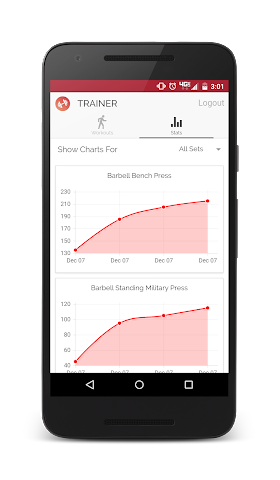 android Trainer - Workout Tracker Screenshot 4