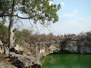 Photo: #015-Le lac Otjikoto profond de 55m