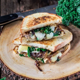 Kale and Sausage Grilled Cheese Sandwich.