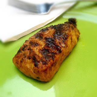 Pan Roasted Yellow Curry Salmon.