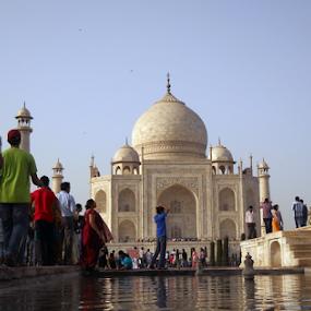 Taj the way I look at it... by Shubhendu Bikash Mazumder - Buildings & Architecture Public & Historical ( monuments, travel, historical, architecture, people )
