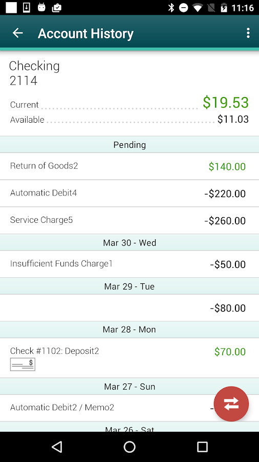 Firefly CU Mobile Banking- screenshot