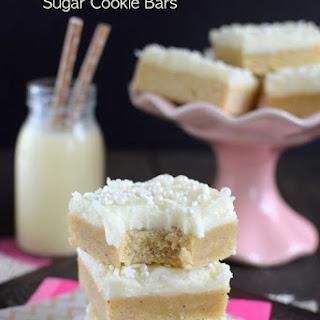 Eggnog Sugar Cookie Bars
