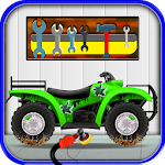 Quad Bike Repair Salon – Auto mechanic Workshop Icon