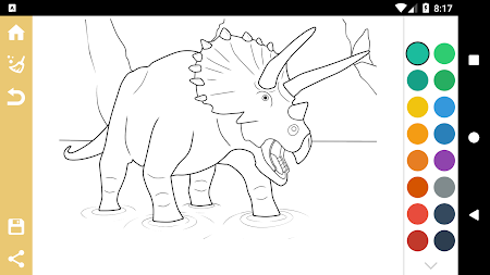 Best Dinosaur Coloring Book APK Screenshot Thumbnail 7