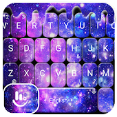 Tải Liquid Galaxy Droplets Keyboard Theme miễn phí
