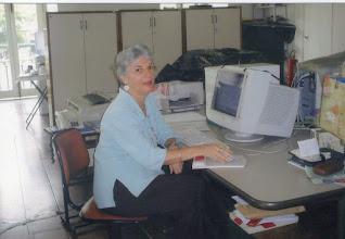 Photo: A Bibliotecária Vera Medina do Paço Imperial.