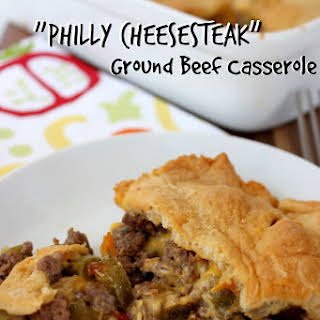"""Philly Cheesesteak"" Ground Beef Casserole."