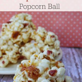 Maple Bacon Popcorn Ball.