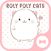 Cute Wallpaper Roly Poly Cats Theme