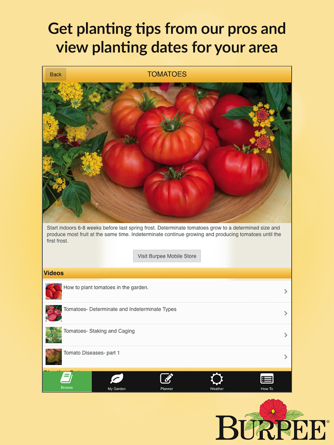 Garden Time Planner by Burpee- screenshot