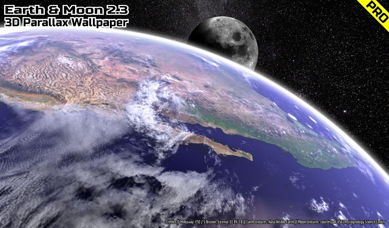 3d Parallax Weather Live Wallpaper Earth Amp Moon In Hd Gyro 3d Pro Parallax Wallpaper