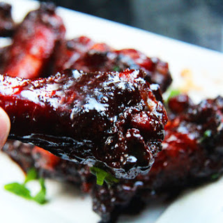 Chinese 5 Spice Chicken Wings With Soy, Balsamic Reduction Glaze.