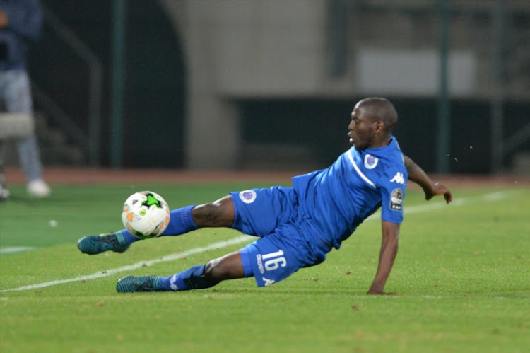 Aubrey Modiba during the CAF Confederations Cup match between SuperSport United and Zesco United FC at Lucas Moripe Stadium on September 15, 2017 in Pretoria, South Africa.