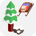 Downhill slide icon