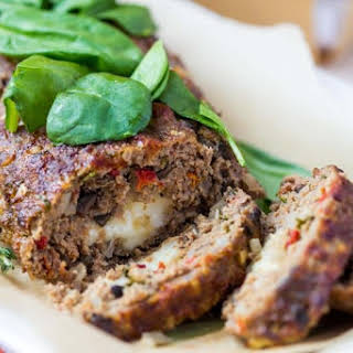Stuffed Turkey Meatloaf With Kale or Spinach and Mozzarella.