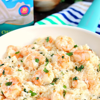 Parmesan Basil Shrimp and Rice