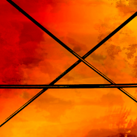 Red Fire by Edward Gold - Digital Art Abstract ( red, orange, digital photography, yellow, colorful, digital art,  )