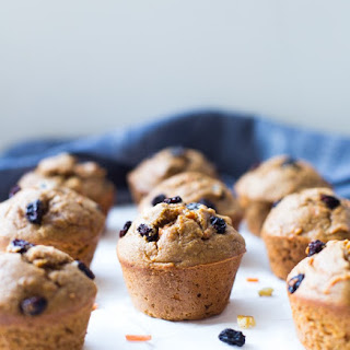 Healthy Flourless Morning Glory Muffins.