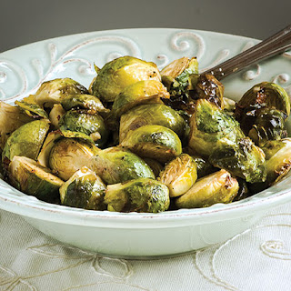 Mustard-Garlic Brussels Sprouts.