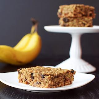 Cinnamon Raisin Banana Oat Bars.