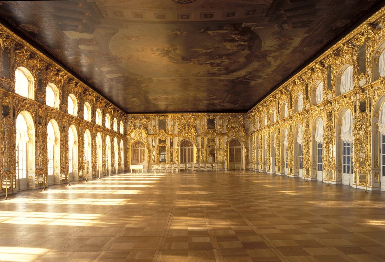 царское село екатерининский дворец большой зал