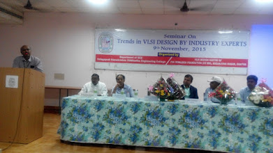 Photo: Lecutre is given by prinicipal Dr. A.Ratna Prasad , V R Siddhartha Engineering College on diasc left to reight Dr.K Ramakrishna, Dr N N Sastry ,Mr.ravi Varanasi-GM Intel USA, Sri.Krishna Prabala- PSK Research Foundation and Mr.Sai Krishna-senior designer Intel Banglore