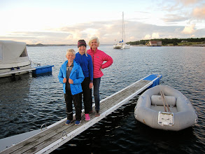 Photo: Weather is improving as we come ashore for an evening walk in Jomfruland