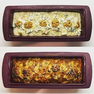Pear, Roquefort & Walnut Savoury Cake