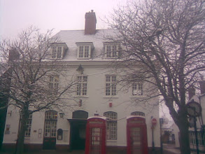 Photo: 2013 winter morning, the 2nd week of January and a snowy start in the market place covering the phone boxes and post-office roof.