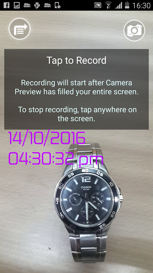 Video Timestamp- screenshot