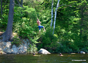 Photo: Rope swing at Ricker Pond State Park