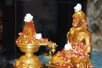 Photo: Abhisekam with Panjamirtham (mixed fruits with honey)
