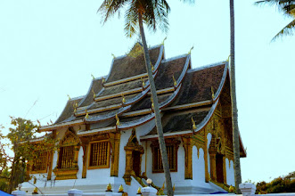 Photo: The monks pray twice a day in this chapel.  The roofs are very interesting.