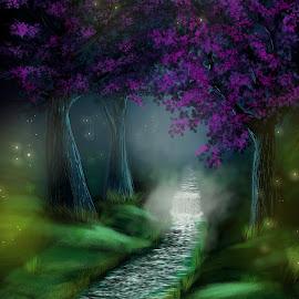 by Nicholas Jex - Illustration Flowers & Nature ( stream, concept )